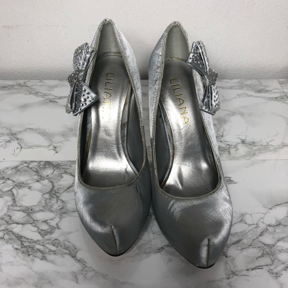 Liliana Shoes - Silver heels